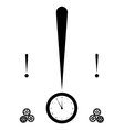 exclamation mark and clock vector image vector image