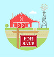 family farmhouse icon isolated on blue background vector image vector image