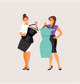 fitting clothes vector image vector image