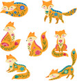 folk colorful with beautiful vector image vector image