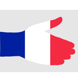 French handshake vector image vector image