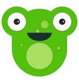 frog face in cartoon flat style vector image