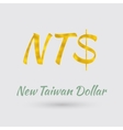 Golden New Taiwan Dollar Symbol vector image vector image