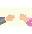 hand applause flat style vector image vector image