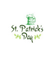 happy st patrick day icon green hand drawing vector image vector image