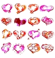 happy valentines hearts set vector image vector image