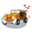 in love jeep car toys in shape character vector image vector image