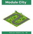 isometric natural forest vector image