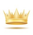 king royal golden crown vector image vector image