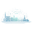 lyon skyline with panorama in white background vector image vector image