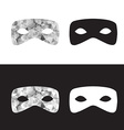 magictriangle mask black and white low poly mask vector image