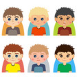 man character avatars vector image