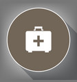 medical first aid box sign white icon on vector image