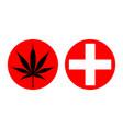 medicinal cannabis vector image