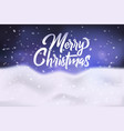 merry christmas congratulation banner poster vector image vector image