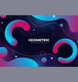 modern abstract geometric fluid blue and pink vector image vector image