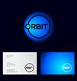 orbit logo letter and o like orbit planet vector image vector image