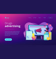 pharmaceutical marketing concept landing page vector image vector image