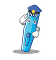 police trimmer character cartoon style vector image vector image