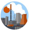 retro industrial factory template vector image vector image