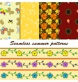 retro patterns collection vector image vector image
