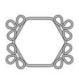 rope decor hexagon vector image vector image