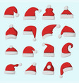 Santa claus fashion red hat modern elegance cap