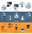 Science Horizontal Banners vector image vector image