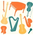 Seamless pattern with musical instruments vector image vector image