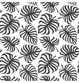 seamless pattern with tropic leaves monstera vector image vector image