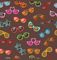 seamless summer pattern with sunglasses for art vector image