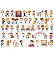 set doodle children vector image vector image