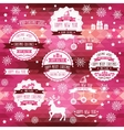 Set of creative Christmas badges vector image vector image