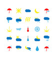 set of weather icons flat vector image