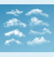 set transparent different clouds isolated on vector image vector image