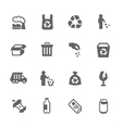 Simple Garbage Icons vector image vector image