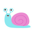 snail icon violet purple shell cute cartoon vector image