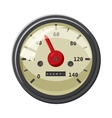 Speedometer with red arrow icon cartoon style vector image vector image