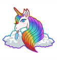 sweet unicorn cloud vector image