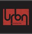 urban generation t-shirt and apparel vector image