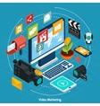 Video Marketing Isometric Concept