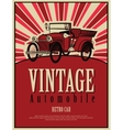 vintage car cabriolet vector image