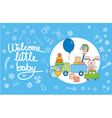 Welcome little baby blue vector image vector image