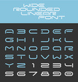 Wide rounded outline sport techno font Letters vector image