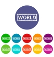 World flat icon vector image vector image