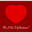 valentines day card - red heart shadow and text vector image