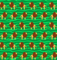 Cartoon Lion Seamless Pattern Wild Animal Africa vector image