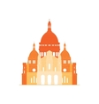 The sacred basilica Sacre Coeur in France - 5 vector image