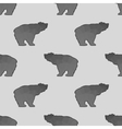 Bear Polygonal Seamless Pattern vector image