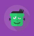 Halloween Flat Icon Frankenstein vector image